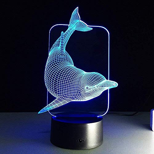 3D Night Light, LAKA 3D visualization Illusion LED Table Light with Touch Button, 7 Colors Change Touch Desk Lamp for Bedroom Children Room Decorative or Gifts for Birthday/Christmas