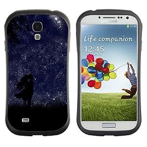 "Pulsar iFace Series Tpu silicona Carcasa Funda Case para SAMSUNG Galaxy S4 IV / i9500 / i9515 / i9505G / SGH-i337 , Noche Estrellas amor de los amantes de sol romántica"""