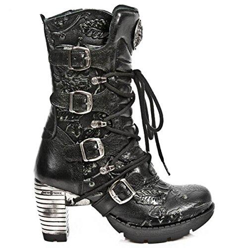 Nuovi Stivali Di Roccia M.tr003-s8 Gotiche Damen Hardrock Punk Stiefel Schwarz