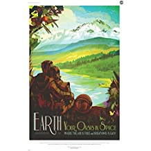 "EARTH: Your Oasis In Space - NASA JPL Space Tourism Travel Poster 24"" x 36"" (Unframed)"