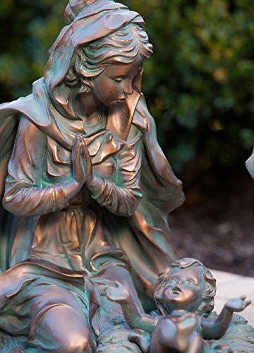 Evergreen 3-Piece Bronze Finish Mary, Joseph and Baby Jesus Outdoor Safe Garden Nativity Set by Evergreen Flag & Garden (Image #4)