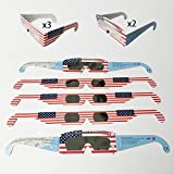 Lifecolor Solar Eclipse Glasses | CE and ISO Certified | Safe Solar Viewing | Flexible Paper Glasses | Family Size Pack [Protect Your Eyes]