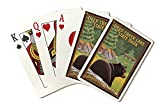 Deep Creek Lake State Park, Maryland - Bear in Forest (Playing Card Deck - 52 Card Poker Size with Jokers)