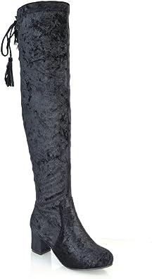 Ladies Black Over The Knee Boots