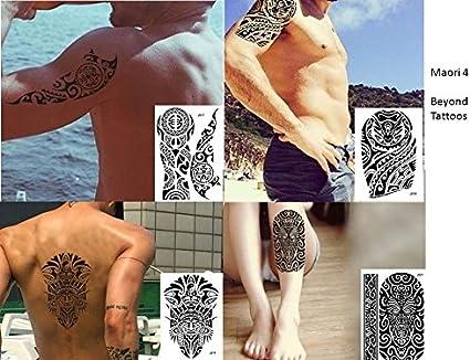 Tribal Tattoo Negro 4 hojas temporär brazo Brazo tatuaje pegatinas ...