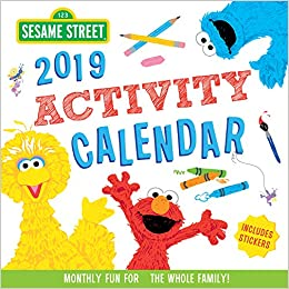 2019 Sesame Street Activity Calendar Monthly Fun For The Whole