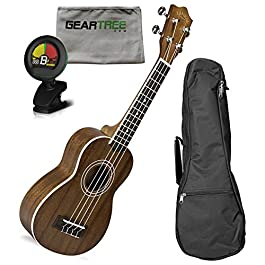 Lanikai MA-S Mahogany Soprano Ukulele w/Gig Bag, Cloth, and Tuner