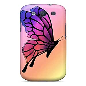 PhilHolmes Samsung Galaxy S3 Best Hard Phone Cases Unique Design Colorful Butterfly Pictures [xRe3770HhaE]