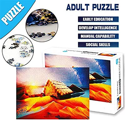 1000 Pcs Sights View Jigsaw Puzzles for Adult, Landscape Puzzle for Family, Cardboard Puzzle, Educational Game, Brain Challenge Puzzle for Kid, Puzzle for Entertainment, Stress Release, Game Toy Gift: Toys & Games
