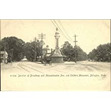 Junction of Broadway and Massachusetts Ave. and Soldiers Monument Original Vintage Postcard