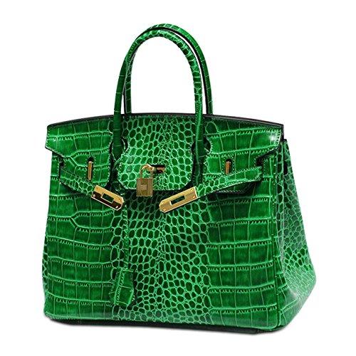 à couleurs Cuir Sac Modèle femme d'épaule 5 de crocodile en green bracelet de cuir avec pour véritable mode véritable main BdUwqdf