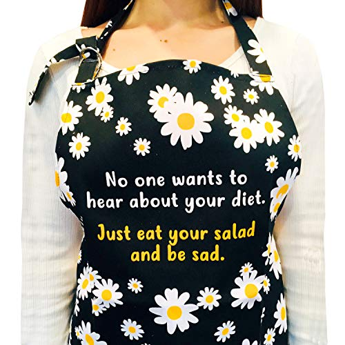 Seymour Butz Funny Kitchen Apron - with Pockets - Perfect Cooking and Baking Apron for Women