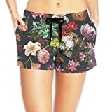 Best Floral Poster Women's Swim Trunks Quick Dry Water Beach Board Shorts