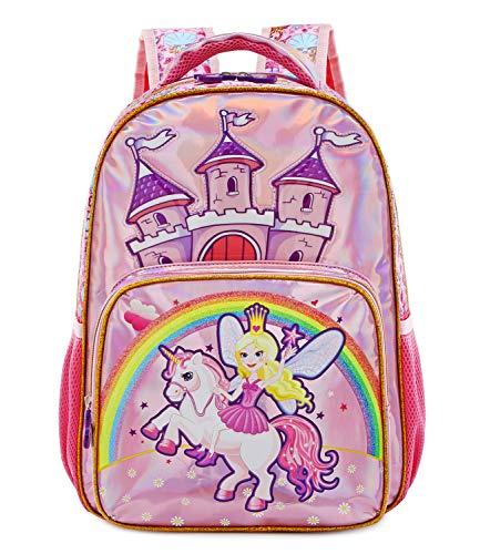 Abshoo Little Unicorn Backpacks For Girls Preschool Elementary School Cute Princess Kindergarten Bookbags Girls (Unicorn Pink)