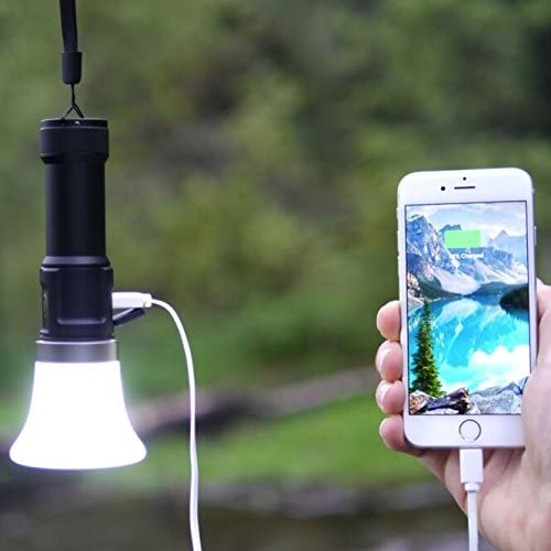 Lantern Lights – Multi-Functional Flashlight 1000 Lumen, USB Rechargeable Flashlight, USB Battery Backup and Bike Mount. Charge Any USB Device, iPhone, Go Pro