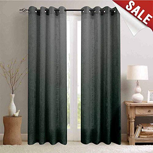 Hengshu Room Darkening Wide Curtains Digital Creation of a Leather Texture Abstract Dark Colored Background Classical Print Waterproof Window Curtain W108 x L96 Inch Grey White ()