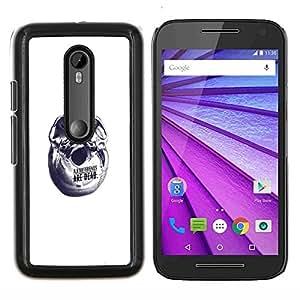 Qstar Arte & diseño plástico duro Fundas Cover Cubre Hard Case Cover para Motorola MOTO G3 / Moto G (3nd Generation) (Resumen Amigos)