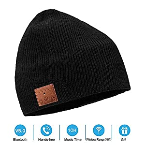 5d6684a1 NERAON Newest Bluetooth 5.0 Wireless Bluetooth Beanie with Detachable HD  Stereo Speakers & Mic, Bluetooth Headphones Beanie Music Hats for Outdoor  Sports ...