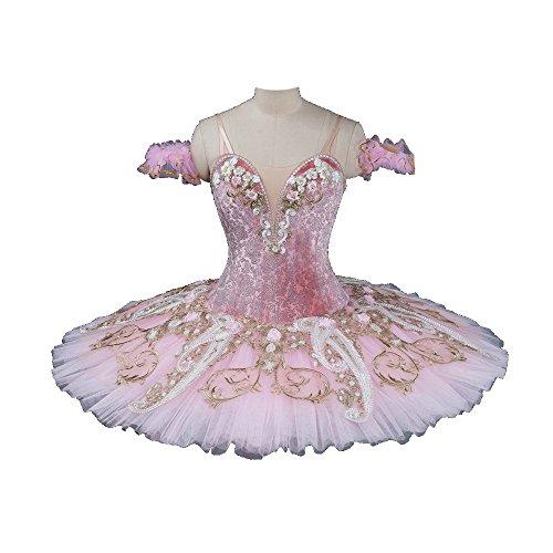 Arabesque Life Professional Ballet Tutu Pancake Ballet Tutu Dress, Professional Pancake Tutu For Ballet Variations (XSmall) ()