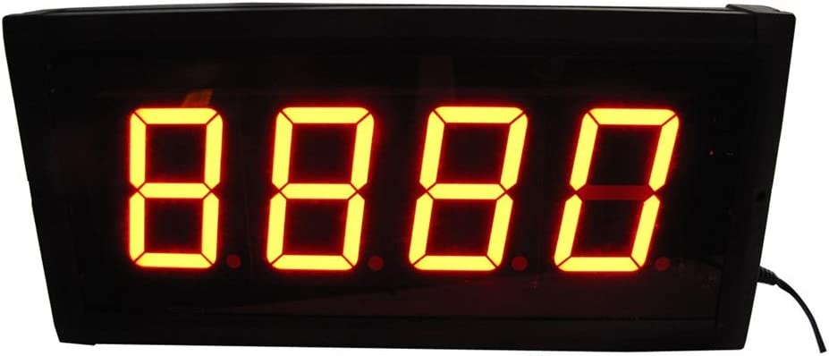 デジタルタイマーウォールクロック LEDデジタルインターバルタイマーカウントダウントレーニングストップウォッチウォールクロックリモートコントロールブラック カウントダウン間隔タイマー (色 : ブラック, サイズ : 33X16X4CM) ブラック 33X16X4CM