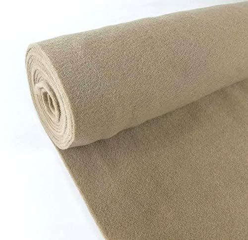 5 Yards Tan Upholstery Durable Un-Backed Automotive Trim Carpet 40