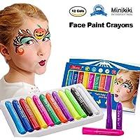 MiniKIKI Face Paint Crayons, Face Painting Kits, 12 Cols,...