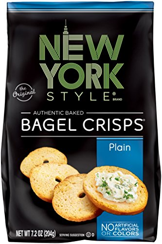 New York Style Bagel Crisps, Plain, 7.2 Ounce (Pack of 12)