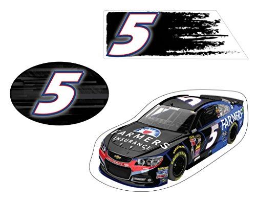 NASCAR #5 KASEY KAHNE 3 PC DECAL SET-KASEY KAHNE 3 PIECE STICKER SET NEWEST STYLE - Kasey Kahne Bumper