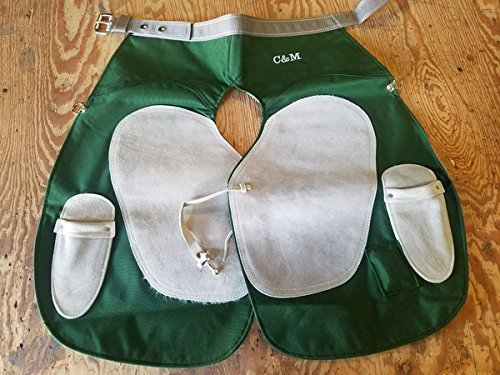 C & M Cordura Nylon Green Apron by C & M