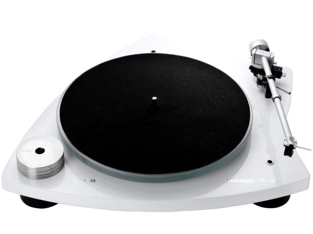 Thorens TD 309 Tri-Balance Manual Turntable - TP92 AT95B (High Gloss White)