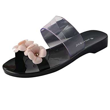 8b00bd5c682 kaifongfu Spring and Summer Ladies Beach Sandals Flowers Jelly Slippers Non-Slip  Home Casual Shoes