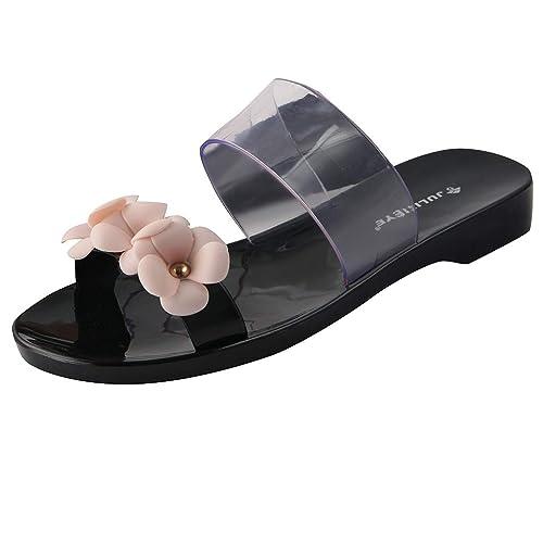 d49d202e6d66 Sunergy Womens Flowers Jelly Slippers