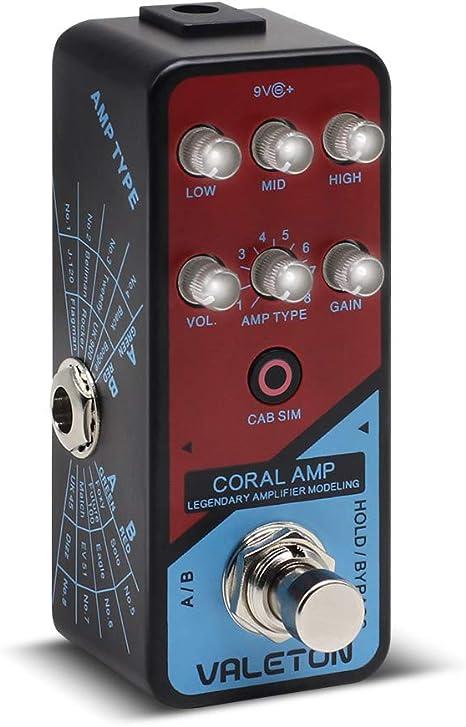 Valeton Coral Amplificador de preamplificador Amplificador digital Modelador Pedal de efectos de guitarra: Amazon.es: Instrumentos musicales