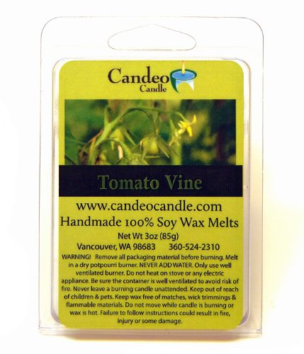 Tomato Vine, Super Scented Soy Melt Cubes, Pack of 2- Use in Tart Warmers, Tea Light Warmers, Oil Warmers or Scentsy Warmers! - Tomato Cube