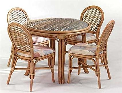 Groovy Cane World Dining Set 4 Chair 1 Center Table Amazon In Inzonedesignstudio Interior Chair Design Inzonedesignstudiocom