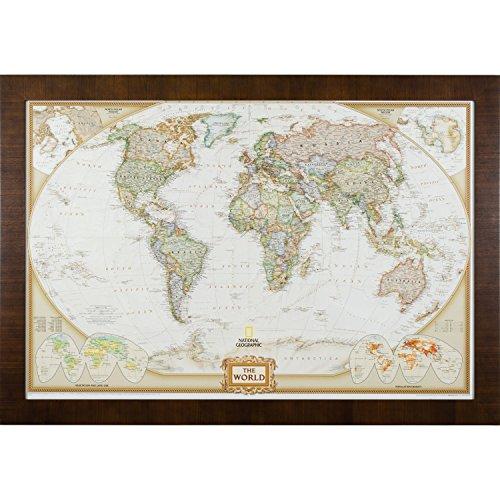 [해외]크레이그 프레임 이그제큐티브 월드 여행지도/Craig Frames Executive World Travel Map