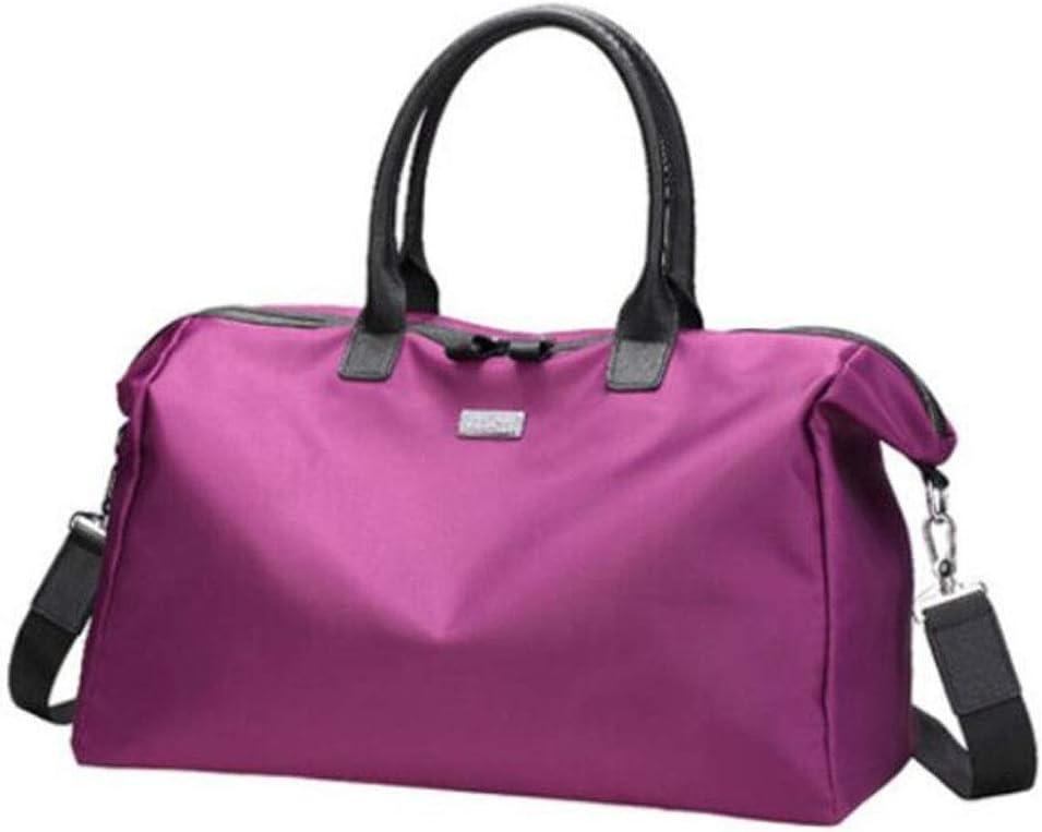 Color : Purple, Size : 18.8812.4 inch. Travel Bag Kaiyitong Sports Bag Large Size: 472031cm Oxford Cloth Portable Korean Bag Large-Capacity Travel Bag Short-Distance Travel Gym Bag