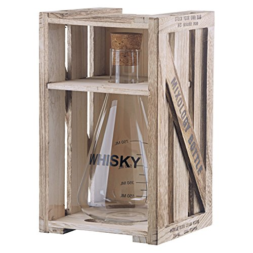 Artland Mixology Whisky Decanter in a Wood Crate Gift Box by Artland