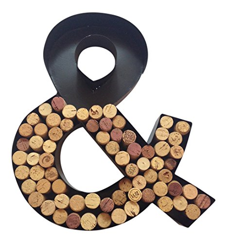 Monogram Letter Amp Quot And Quot Symbol Wall Wine Cork Holder In