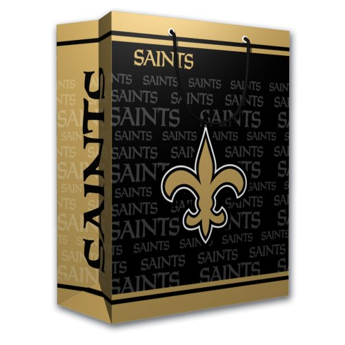 NFL New Orleans Saints Gift Bag, Medium - New Orleans Saints Bag