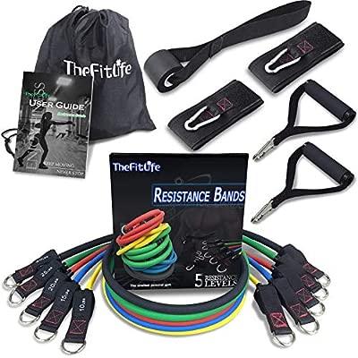 TheFitLife Bandas Elasticas Fitness Musculacion - Gomas Easticas Apilable Hasta 50 kg Para Deportes De Interior y Exterior, Fitness, Velocidad, ...