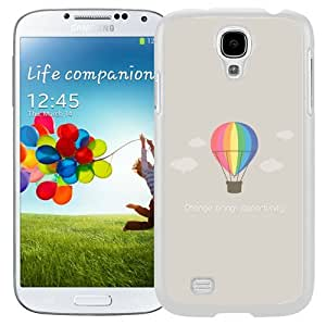 Unique and Fashionable Cell Phone Case Design with Flat Minimal Hot Air Balloon Illustration Galaxy S4 Wallpaper in White