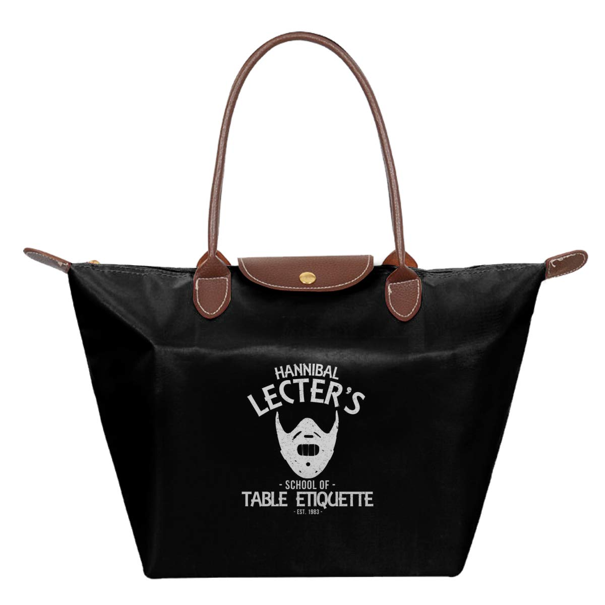 Hannibal Lecters School Of Table Etiquette Waterproof Leather Folded Messenger Nylon Bag Travel Tote Hopping Folding School Handbags