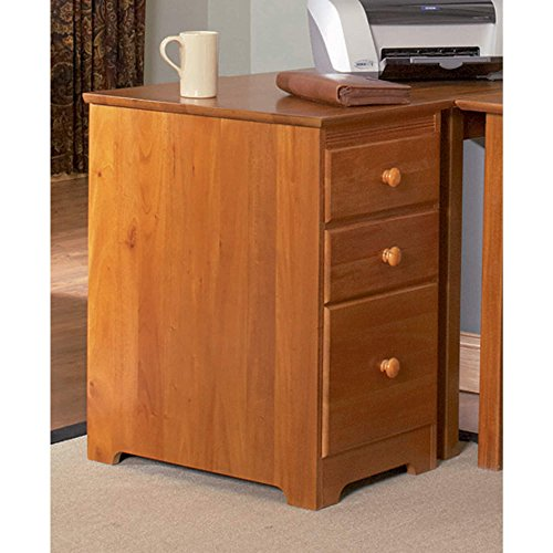 Atlantic Furniture Harvard Media Collection Caramel Latte Wood 3-drawer File Cabinet