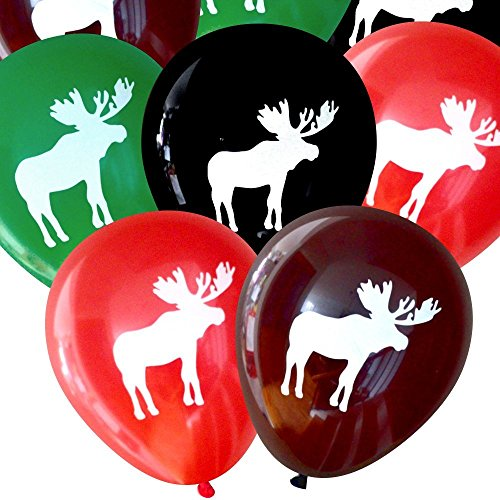 Moose Balloons (16 pcs) by Nerdy Words (Assorted)