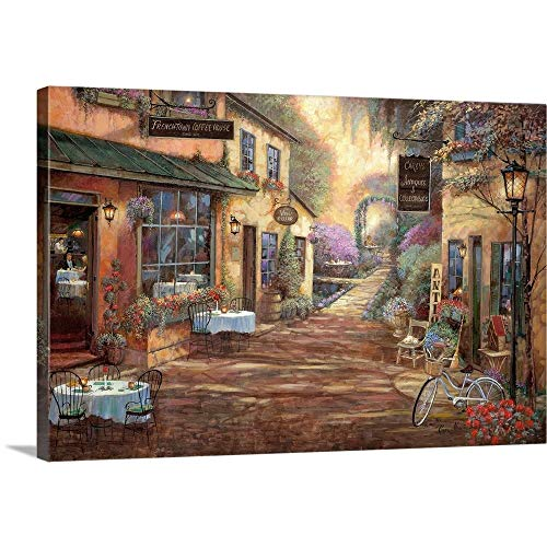 - French Town Canvas Wall Art Print, 36