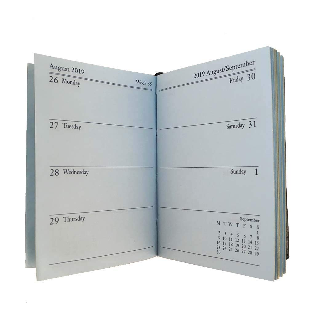 Amazon.com : Charing Cross 2019 Diary, D742BL, 4x2 Calendar ...