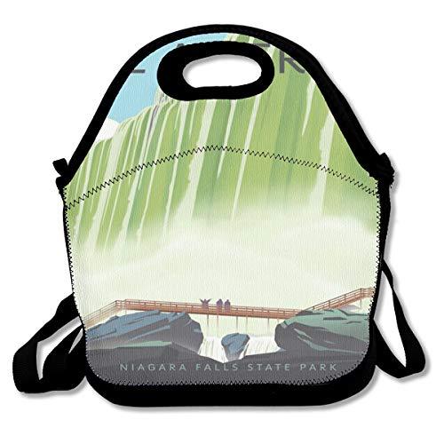 - See America Niagara Falls State Park Lunch Bag Custom Bento Box Picnic Cooler Bag Lunch Tote Bag For Women Men