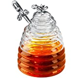 Artland Honey Bee Pot with Dipper(Gift Boxed), Clear