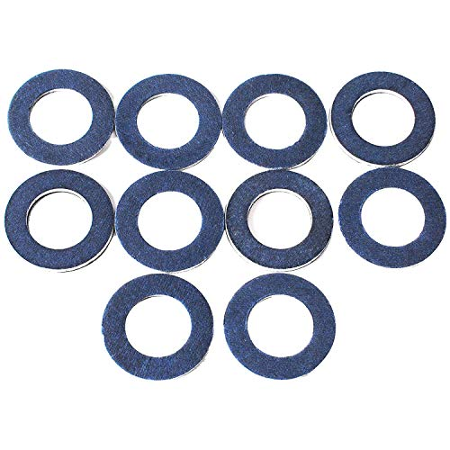 (Oil Drain Plug Gaskets 90430-12031 for Toyota Avalon Camry Cressida Rav4 TUNDRA 4runner dlx scion lexus LS400 Sienna Matrix Yaris FJ Cruiser Highlander Tacoma More(10 pcs) (blue))